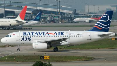 PK-YVA - Airbus A319-132 - Batavia Air