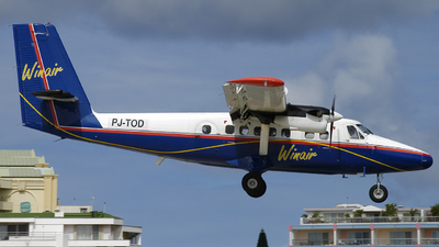PJ-TOD - De Havilland Canada DHC-6-300 Twin Otter - Winair - Windward Islands Airways