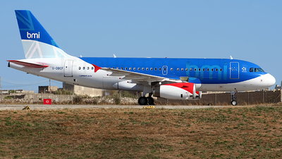G-DBCF - Airbus A319-131 - bmi British Midland International