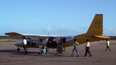 A picture of VQTDA - BrittenNorman BN2A27 Islander - InterCaribbean Airways - © Richard A. Lowry