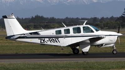 ZK-RNT - Beechcraft A36 Bonanza - Private