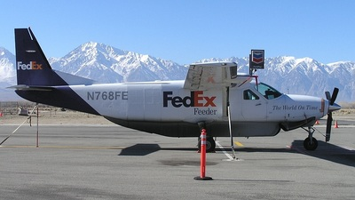 A picture of N768FE - Cessna 208B Super Cargomaster - FedEx - © mike evans