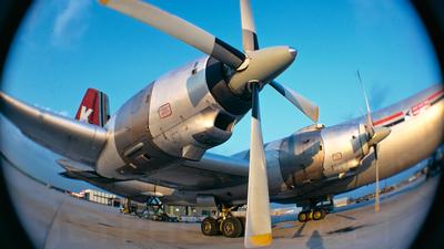 G-AXAA - Canadair CL-44 - Transmeridian Air Cargo (TAC)