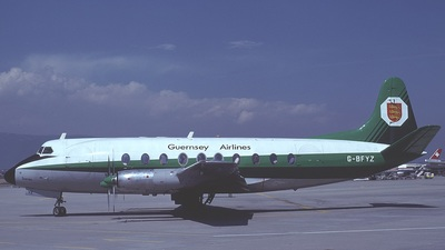 G-BFYZ - Vickers Viscount 735 - Guernsey Airlines