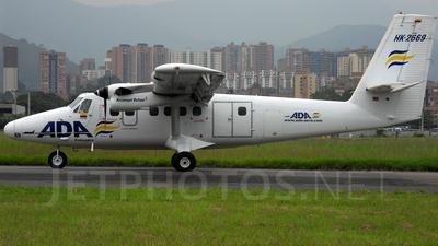 HK-2669 - De Havilland Canada DHC-6-300 Twin Otter - ADA Aerolínea de Antioquía