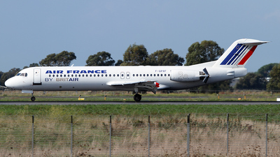 F-GPXF - Fokker 100 - Air France (Brit Air)