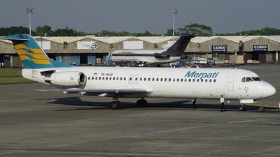 PK-MJD - Fokker 100 - Merpati Nusantara Airlines