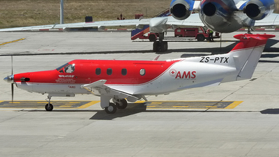 ZS-PTX - Pilatus PC-12/45 - Red Cross Air Mercy Service