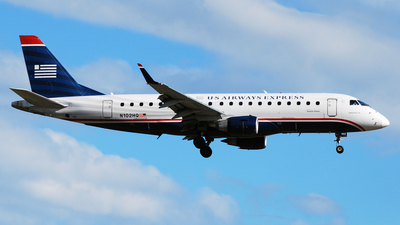 N102HQ - Embraer 170-200LR - US Airways Express (Republic Airlines)