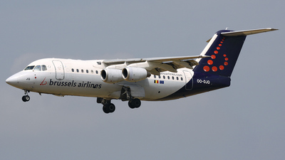 OO-DJQ - British Aerospace Avro RJ85 - Brussels Airlines