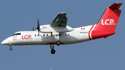 A picture of N454YV - De Havilland Canada Dash 8200 - [454] - © Juan Manuel Temoche - SPJC Spotter