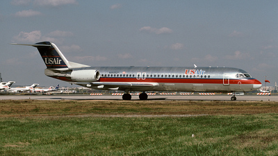 N885US - Fokker 100 - US Airways