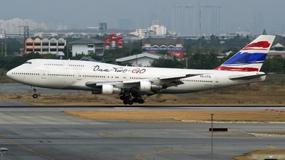 HS-UTQ - Boeing 747-146B(SUD) - One-Two-GO by Orient Thai