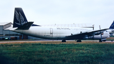 G-APES - Vickers 953C Merchantman - Hunting Cargo Airlines