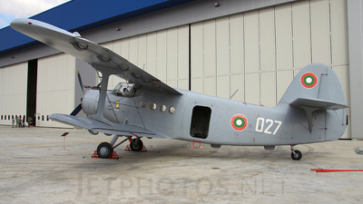 027 - PZL-Mielec An-2 - Bulgaria - Air Force