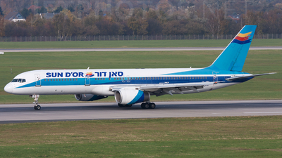 4X-EBT - Boeing 757-258 - Sun d'Or International Airlines