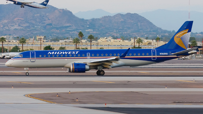 N168HQ - Embraer 190-100IGW - Midwest Airlines (Republic Airlines)