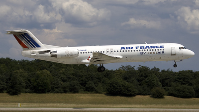 F-GKHE - Fokker 100 - Air France (Brit Air)