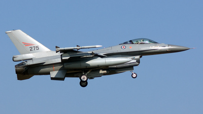 275 - General Dynamics F-16AM Fighting Falcon - Norway - Air Force