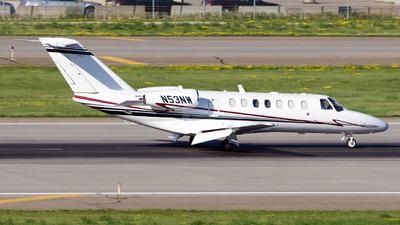 A picture of N53NW - Cessna 525B CitationJet CJ3 - [525B0053] - © Jeremy D. Dando