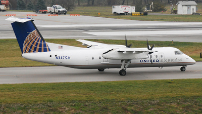 N857CA - Bombardier Dash 8-Q311 - United Express (Commutair)