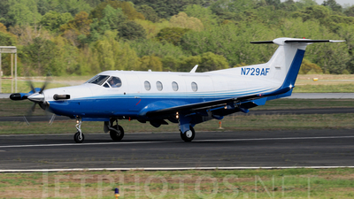 A picture of N729AF - Pilatus PC12/47 - PlaneSense - © Agustin Anaya