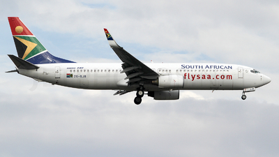 ZS-SJB - Boeing 737-8S3 - South African Airways