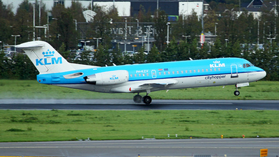 PH-KZV - Fokker 70 - KLM Cityhopper