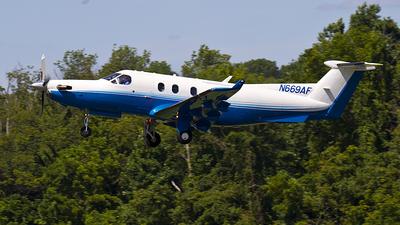 A picture of N669AF - Pilatus PC12/45 - [669] - © Thomas P. McManus