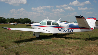 A picture of N8672M - Beech P35 Bonanza - [D7266] - © Terry Figg