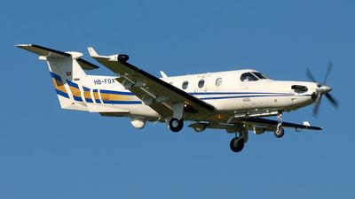 A picture of HBFOX - Pilatus PC12/45 - [334] - © Pier Francesco Baglivo