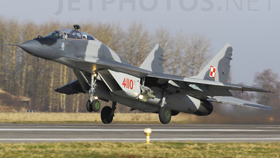 4110 - Mikoyan-Gurevich MiG-29UB Fulcrum - Poland - Air Force