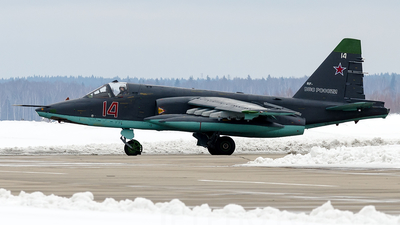 14 - Sukhoi Su-25SM Frogfoot - Russia - Air Force