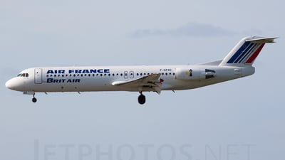 F-GPXD - Fokker 100 - Air France (Brit Air)