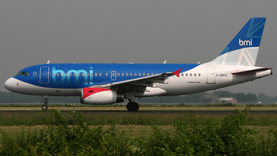 G-DBCG - Airbus A319-131 - bmi British Midland International