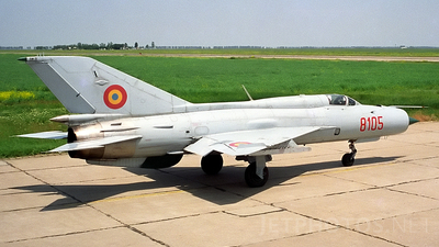 8105 - Mikoyan-Gurevich MiG-21PFM Fishbed - Romania - Air Force
