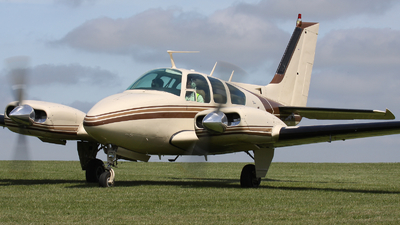 A picture of GWOOD - Beech 95B55 Baron - [TC1283] - © hjcurtis