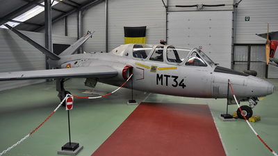 MT-34 - Fouga CM-170 Magister - Belgium - Air Force