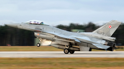 4073 - Lockheed Martin F-16C Fighting Falcon - Poland - Air Force