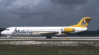 N133ML - Fokker 100 - Midway Airlines