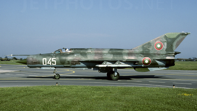 045 - Mikoyan-Gurevich MiG-21bis Fishbed L - Bulgaria - Air Force