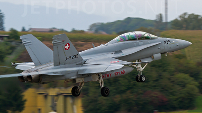 J-5235 - McDonnell Douglas F/A-18D Hornet - Switzerland - Air Force