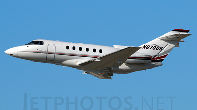A picture of N870QS - Hawker 800XP - NetJets - © Agustin Anaya