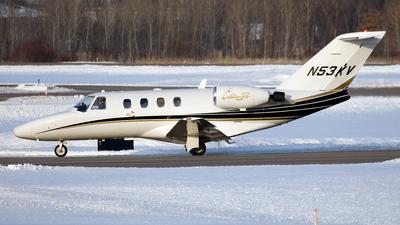 A picture of N53KV - Cessna 525 CitationJet CJ1 - [5250030] - © Jeremy D. Dando