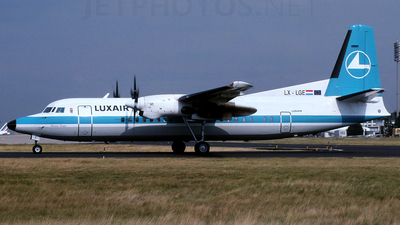 LX-LGE - Fokker 50 - Luxair - Luxembourg Airlines