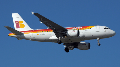 EC-KBJ - Airbus A319-111 - Iberia