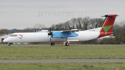 A picture of 5YVVW - De Havilland Canada Dash 8400 PF - Bluebird Aviation - © Oliver Thain