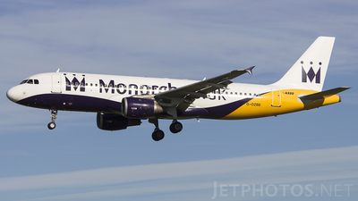 G-OZBB - Airbus A320-212 - Monarch Airlines