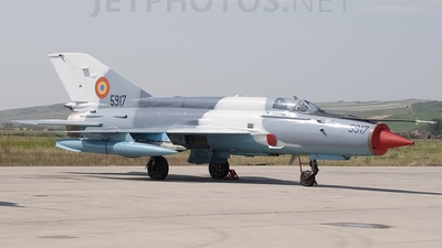 5917 - Mikoyan-Gurevich MiG-21MF Lancer C - Romania - Air Force