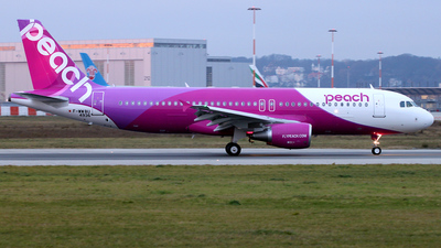 F-WWBU - Airbus A320-214 - Peach Aviation